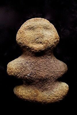 Old Stone Anthropomorphic Figure - Collected Western Highlands PNG 1970's