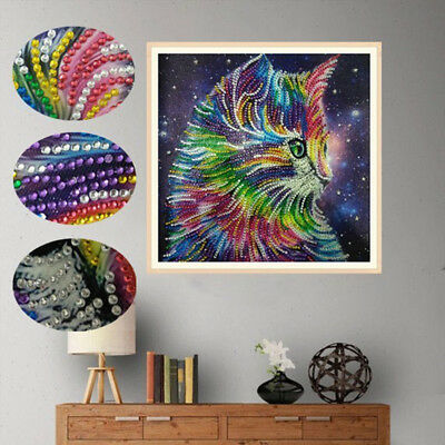 5D special shape diamond painting colorful cat DIY diamond embroidery home decor
