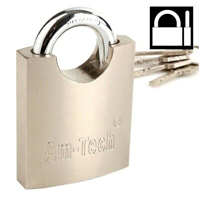 HEAVY DUTY Large 60mm Padlock Hardened Steel Closed Shackle Gate/Chain/Container