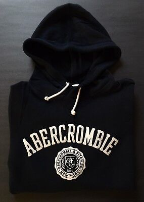 Abercrombie Fitch Mens Waffle Knit Hoodie Arm Logo Soft Sweater