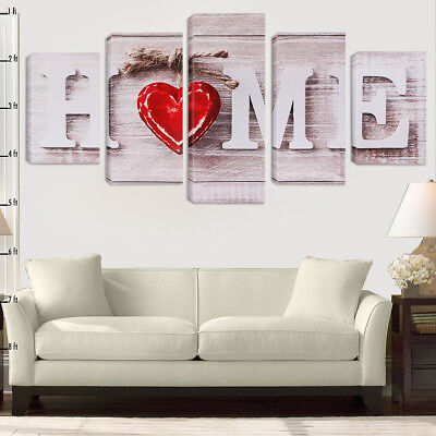 5 Pcs Modern Art Decor Wall Unframed Canvas Print Painting Picture Home Bedroom