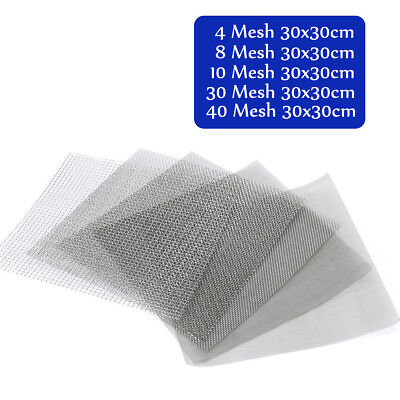 4/8/10/30/40 Mesh 304 Stainless Steel Woven Wire Filtration Filter Sheet 30x30cm