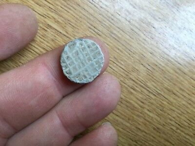 Decorated Medieval Lead Token 14th-15th Century