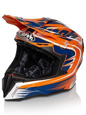 Airoh orange Twist Mix MX Helm
