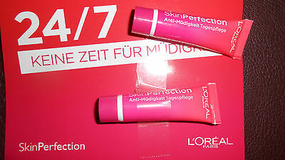 Loreal Paris Skin Perfection Anti-Müdigkeit Tagespfelege 2x5 ml  LSF 20  NEU*OVP