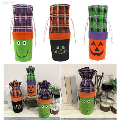 EB52 Wine Bottle Bag Gift Bag Lovely Non-Woven Fabric Halloween Decor Party