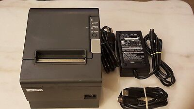 Epson TM-T88IV Commercial POS Thermal Receipt Printer Model M129H TESTED WORKING