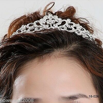 Rhinestones Bridal Crown Jewelry Fascinator Wedding Hair Accessories Headwear R!