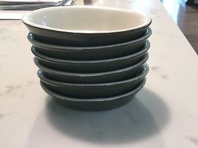(6) Vintage Hall Green Oval Au Gratin Baking Dishes Bowls 550 Usa Mint Stoneware