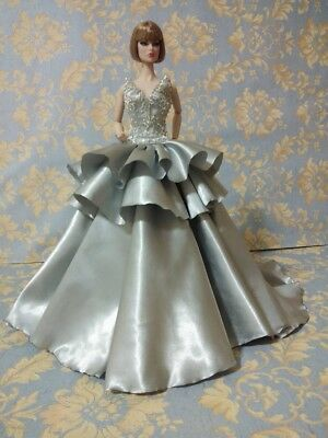 """Bestty_Doll Gown Outfit Dress Fashion Royalty Silkstone  Model Doll FR 12""""p"""