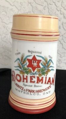 BOHEMIAN SPECIAL BREW L. Kuntz and Park Brewery Tavern Scene 1/3 Liter Lithopane