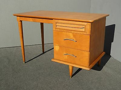 Vintage Danish Mid Century Modern Style Solid Wood Three Drawer WRITING DESK