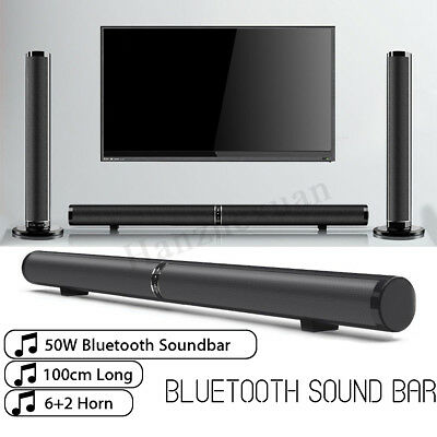 Wireless Bluetooth Detachable TV Soundbar Home Theater Speaker Stereo Subwoofer