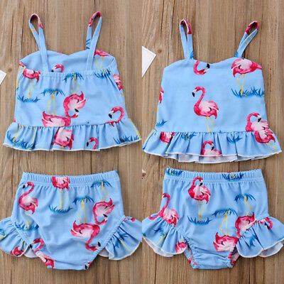 Toddler Baby Kid Girls Cute Bikini Swimwear Swimming Bathing Suit Swimsuit Hot