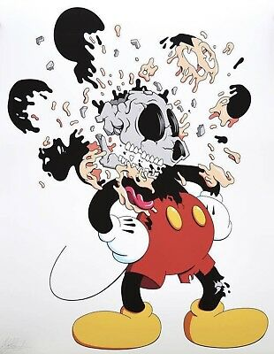 Matt Gondek Mickey Print Complexcon HK Exclusive Signed Numbered Of 150 KAWS