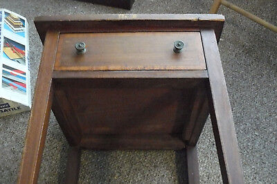 Edwardian Mahogany Side Table With Drawer An Inlaid With Shell Marquetry