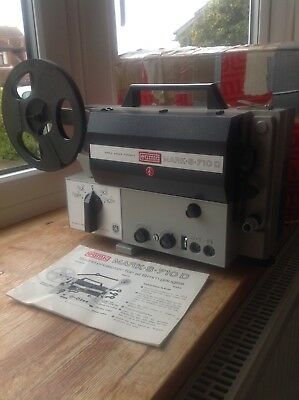 Eumig Mark S-710D Sound Projector for all 8 MM Guages,instructions and Boxed.