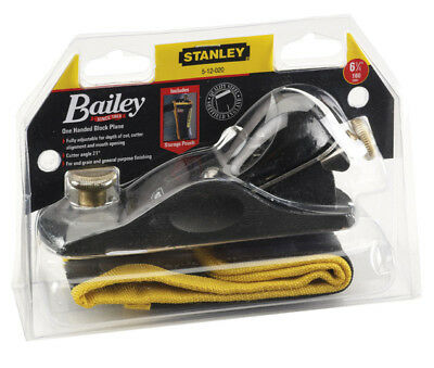 Stanley Bailey STA512020 No9 1/2 Fully Adjustable Block Plane With Storage Pouch