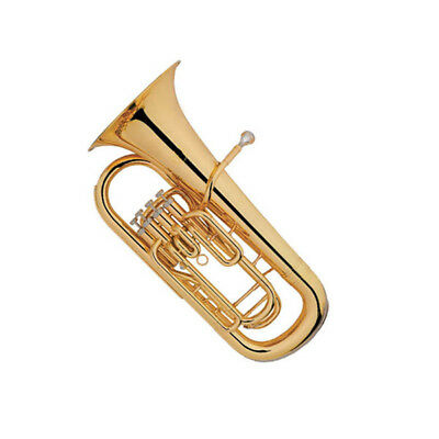 Euphonium Outfit B-Flat 4 Key Bb Key Brass Instrument With Case