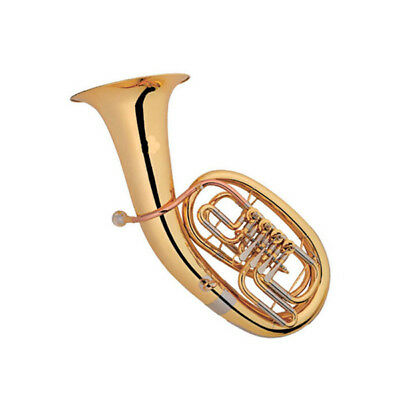 Euphonium B Flat Rotary Brass Instrument With Case Cleaning Cloth