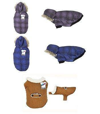 Pet Dog Puppy Waterproof Coat Jacket Fur Hoodie Thick Apparel Outwear Clothes