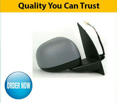Door Wing Mirror Electric Heated Primed Gray Right O//S Fiat Panda 2012 On New