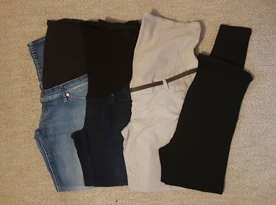 Maternity trousers bundle over bump jeans chinos leggings H&M size 12 medium