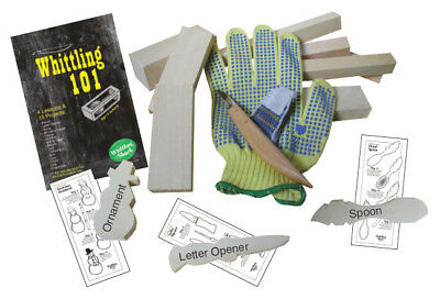 Woodcarving kit carving hobby beginner knife - WHITTLING KIT / BASIC (small)