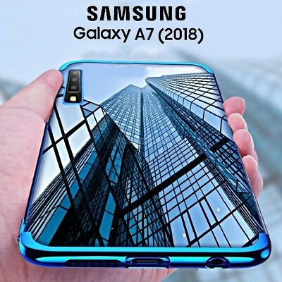 COVER per Samsung Galaxy A7 2018 CUSTODIA Tpu ORIGINALE ELECTROPLATING SLIM Case