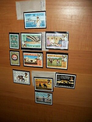 11 Vintage Country of OMAN STAMPS MINT/MNH Rare ISLAMIC OMAN STAMP Collections