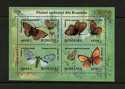 Romania 2002 #4535 butterflies sheet MNH K201