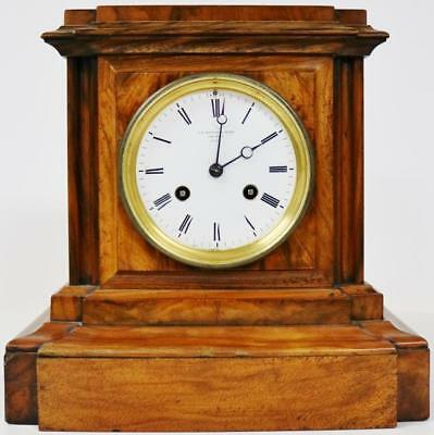 Absolutely Fabulous Rare Antique English 8Day Burr Walnut Mantle / Bracket Clock