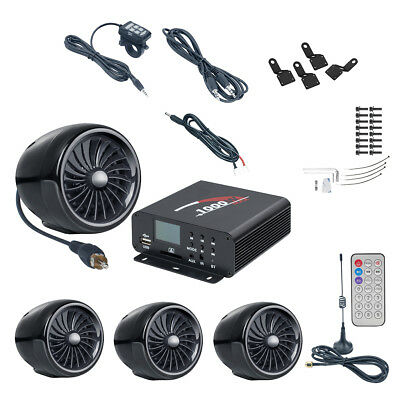 Altoparlanti stereo da moto 1000W con amplificatore Bluetooth FM Audio