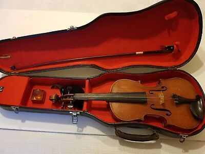 Vintage Violin With.case And Bow.