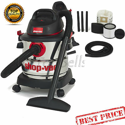 Wet Dry Vacuum Cleaner Shop-Vac 5989300 5-Gallon 4.5 Peak HP Stainless Steel
