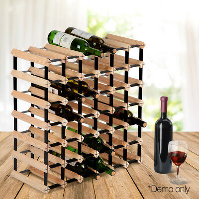 42 Bottle Timber Wine Rack Wooden Storage Cellar Vintry Bar Display Organiser