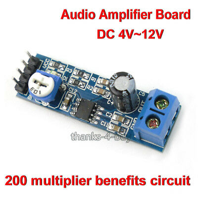 DC 5V 12V LM386 Mini Audio Amplifier Module Board Adjustable Resistance HIFI DIY