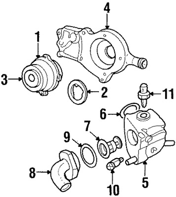 Genuine Ford Thermostat Outlet O Ring W700319 S300