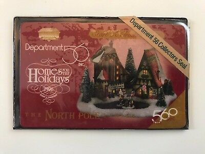 Dept 56 North Pole Series Start A Tradition 6 Min Phone Card Red Sealed