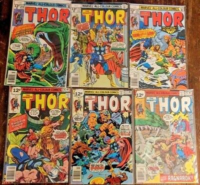 The Mighty Thor #273 #274 #275 #276 #277 #278 MARVEL 1978 6 issue unbroken run