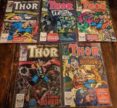 The Mighty Thor #403 #404 #405 #407 #408 (5 issues) MARVEL 1989 Annihilus!