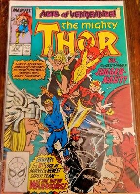 The Mighty Thor #412 MARVEL 1989 1st New Warriors Appearance, Acts of Vengeance