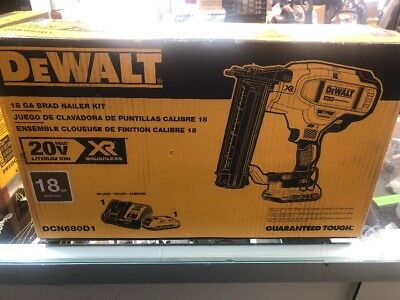 Dewalt Cordless 18 Ga Brad Nailer Kit 20 V Max Dcn680D1 New