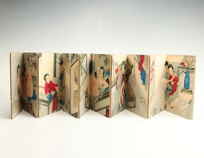 Authentic Japanese Style Paper Books Old Hand-Painted Men Women Love Culture