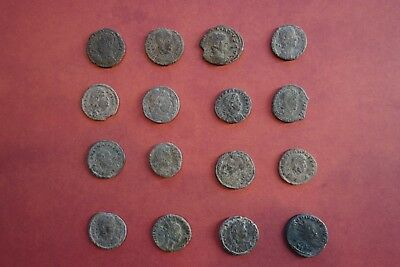 16 nice ancient roman coins - Exact Lot Shown