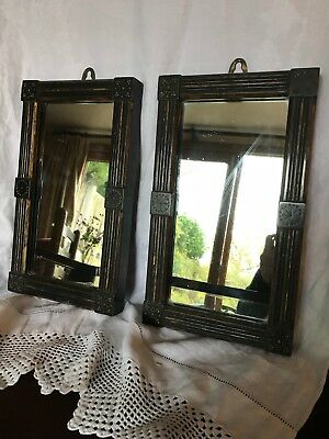 Pair of Arts & Crafts small wall mirrors