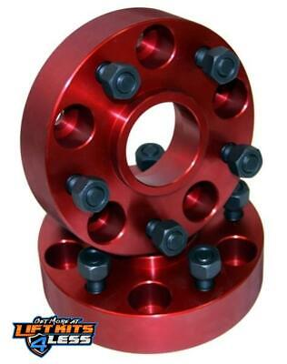 Alloy USA 11302 Red Aluminum Wheel Spacer Pair for 46-86 Willys CJ-2A/CJ-5/CJ-6