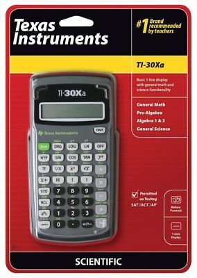 BRAND NEW Texas Instruments TI-30XA Scientific Calculator **FREE SHIPPING**