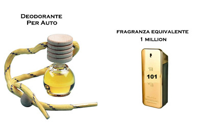 4 Deodorante Profumo Per Auto 1 ONE MILLION, SAUVAGE, ACQUA DI GIO', INVICTUS