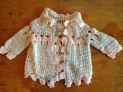 ViNtAgE 1940s Soft Hand Knit Open Lacework Crocheted Sweater